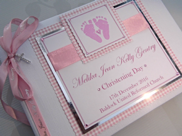 Baby Girls Christening Guest Book